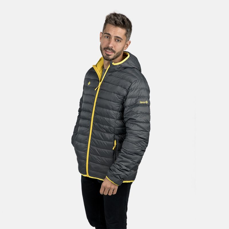 MAN'S FLORENZ DOWN JACKET WITH HOOD GREY