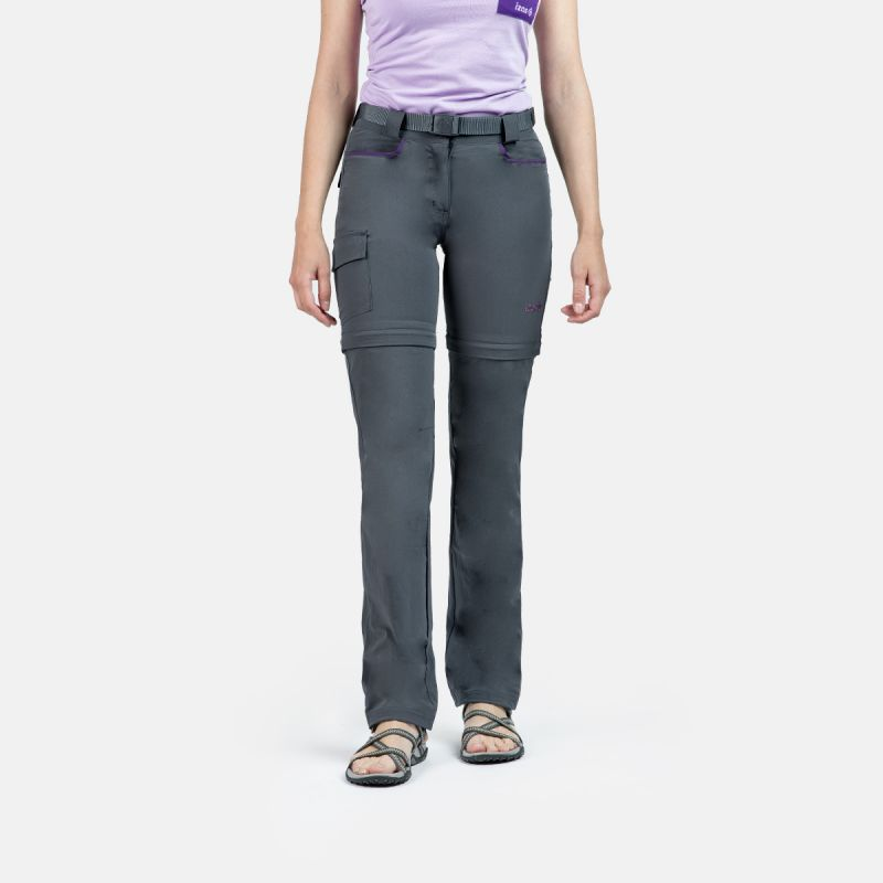 WOMAN TREKKING PANTS MAUNA II GREY