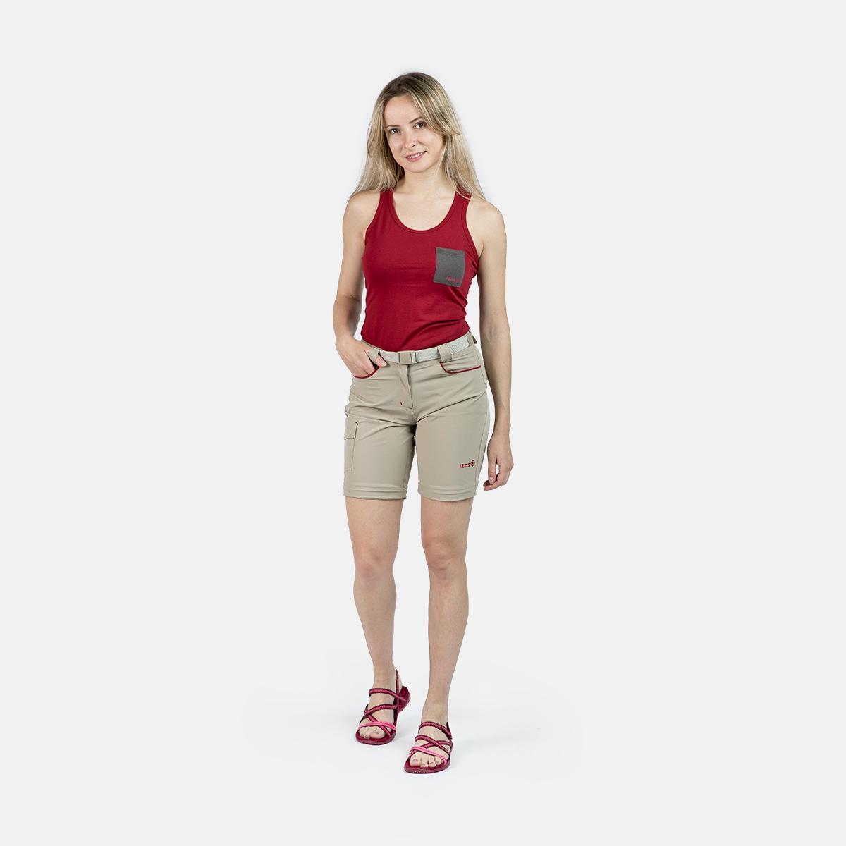 WOMAN TREKKING PANTS MAUNA II GREY/RED