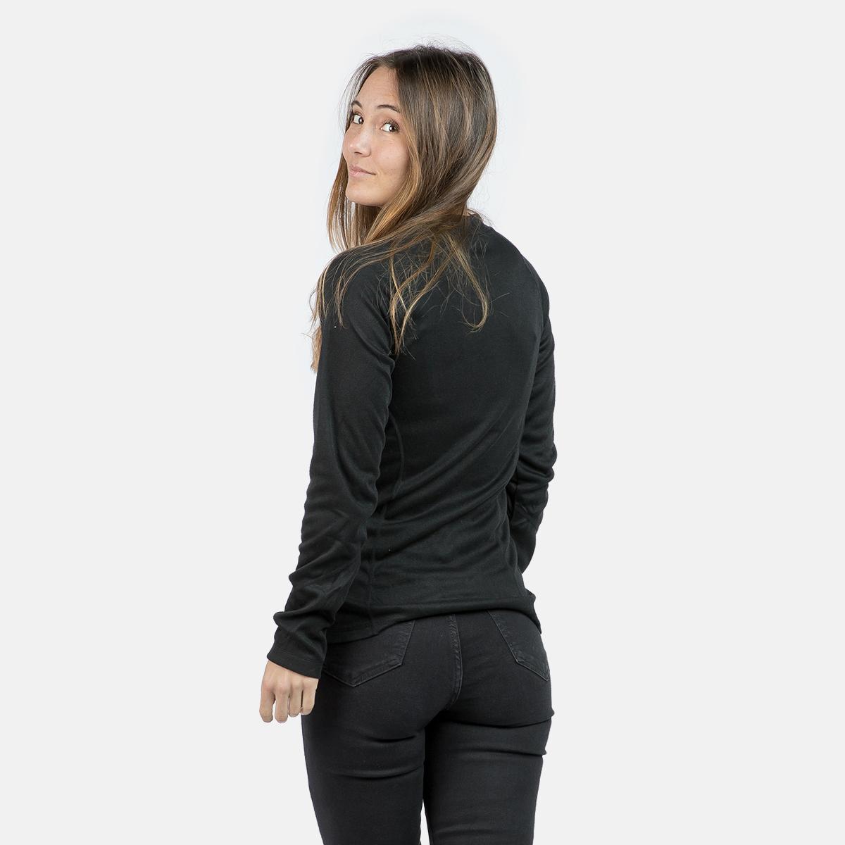 WOMAN'S ANAGA THERMAL T-SHIRT BLACK