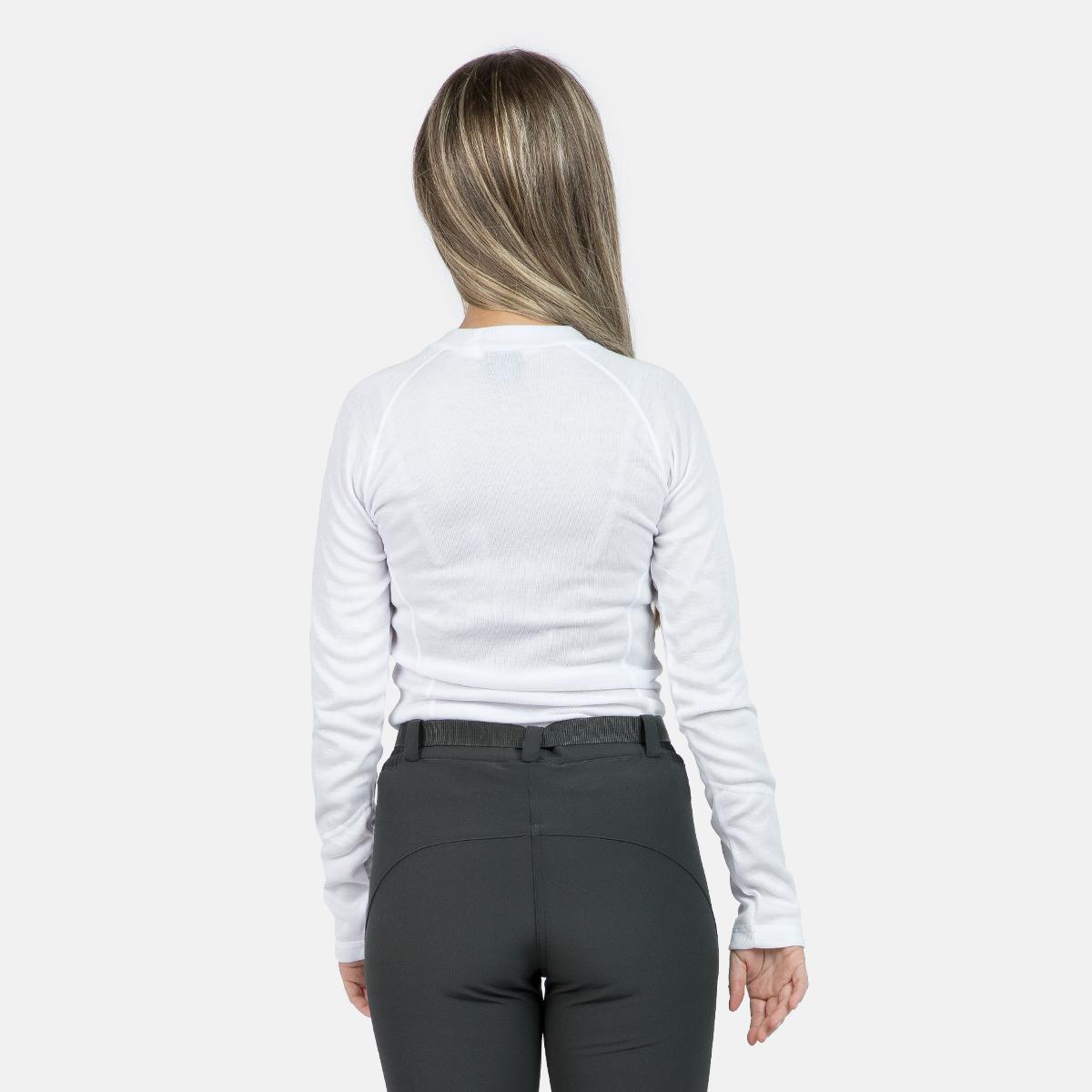 WOMAN'S ANAGA THERMAL T-SHIRT WHITE