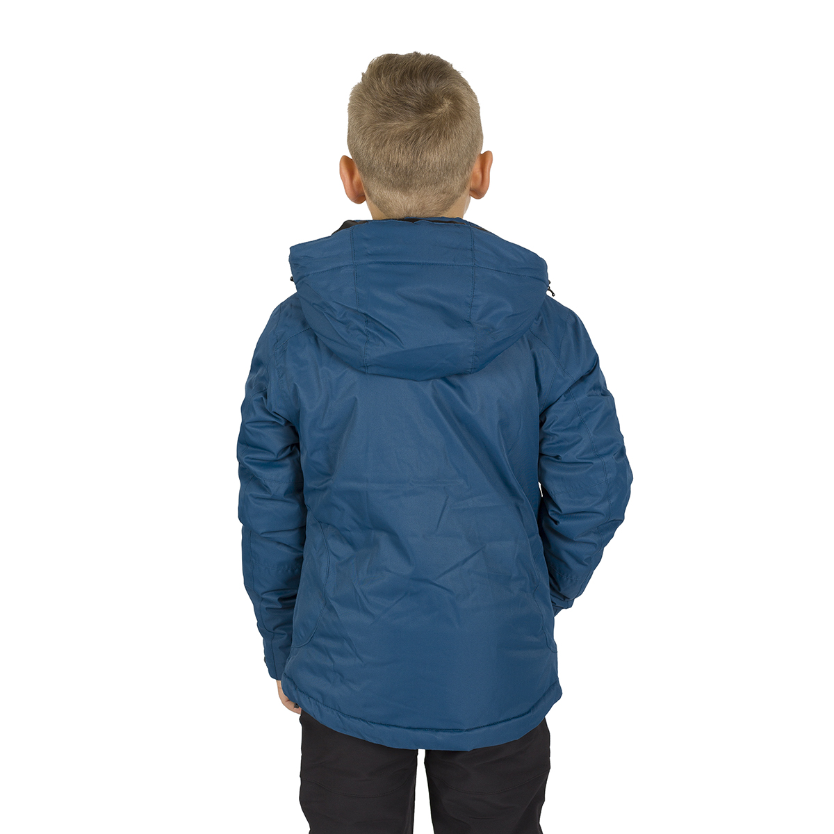 NALUNS KIDS PADDED JACKET WITH HOOD BLUE