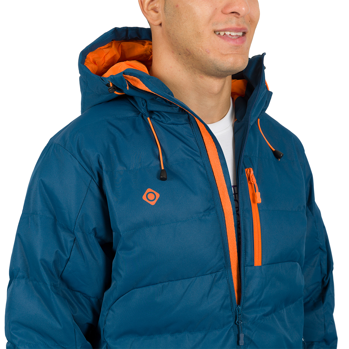MAN'S AMPRIU PADDED JACKET WITH HOOD BLUE
