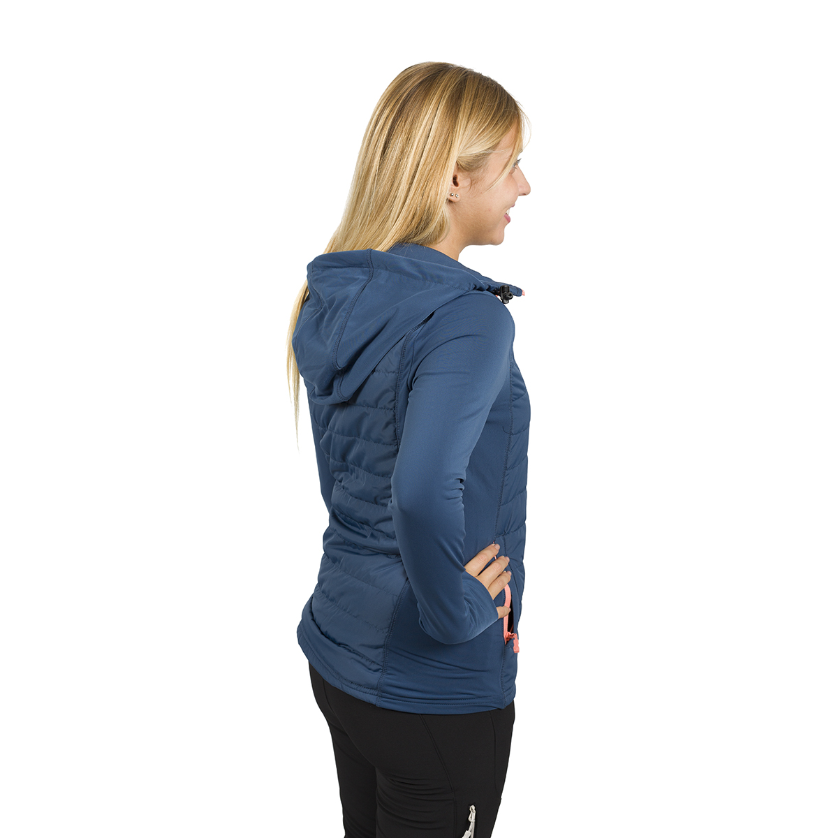WOMAN'S ANAYET PADDED & POLAR STRETCH JACKET BLUE
