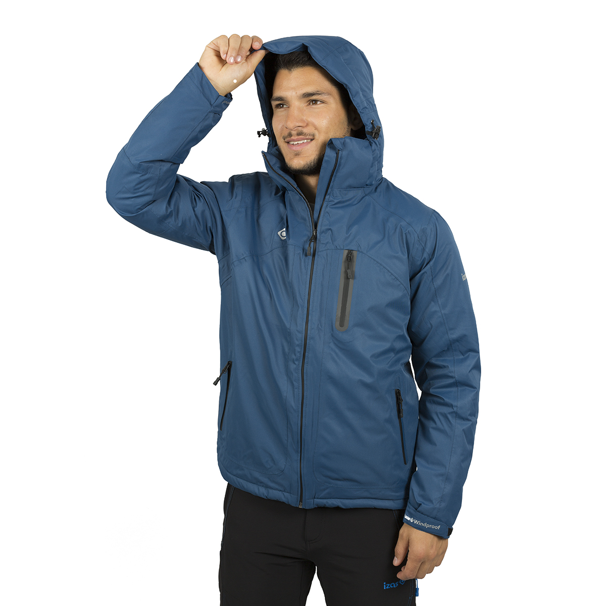 MAN'S NALUNS PADDED JACKET WITH HOOD BLUE