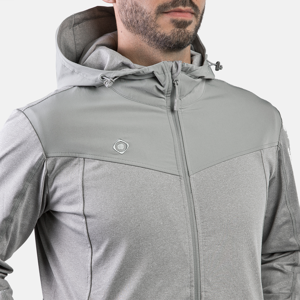 MAN'S TUCSON PULLOVER WITH ZIP GREY