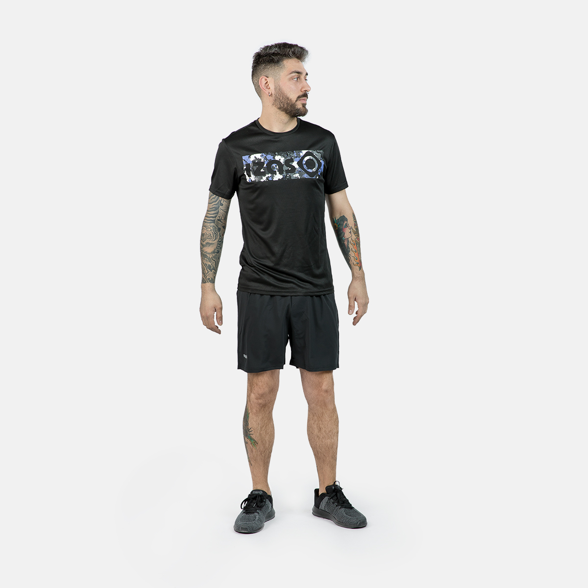 MAN'S AKRON SHORT SLEEVE T SHIRT BLACK