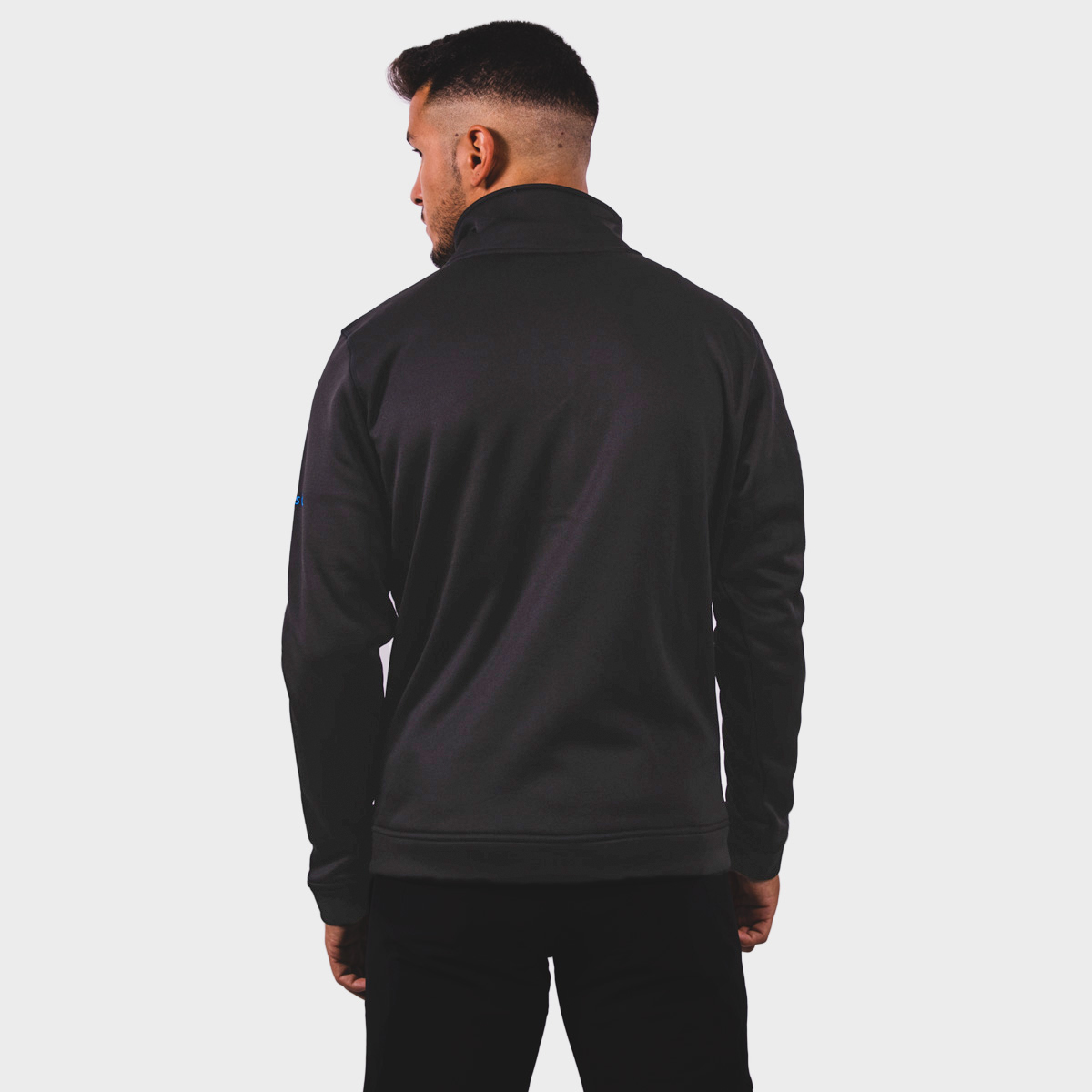 MAN'S KOUSSI JACKET PULLOVER WITHOUT HOOD BLACK