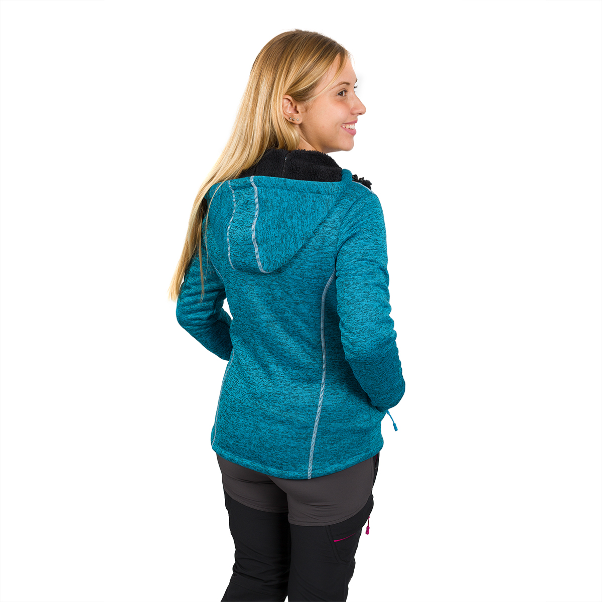WOMAN'S GUARA LOOK WOOL JACKET TURQUOISE