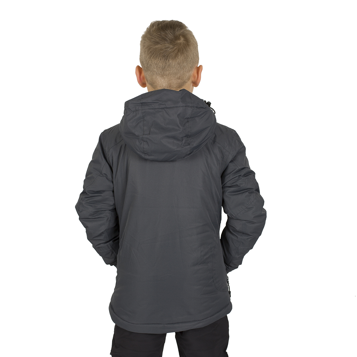 NALUNS KIDS PADDED JACKET WITH HOOD GREY